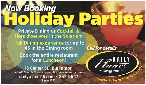 Holiday party ad