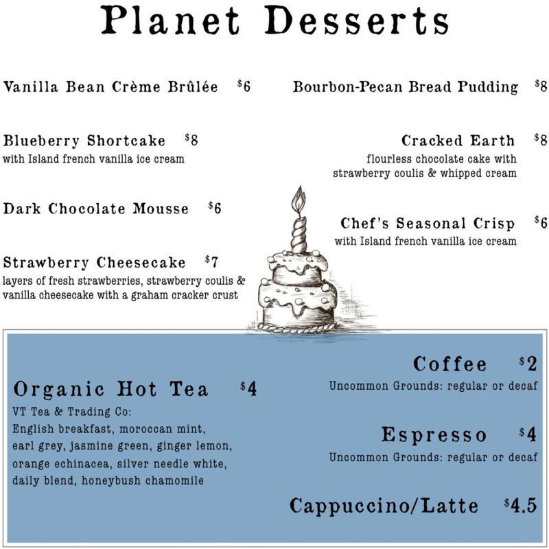 Desserts summer 14