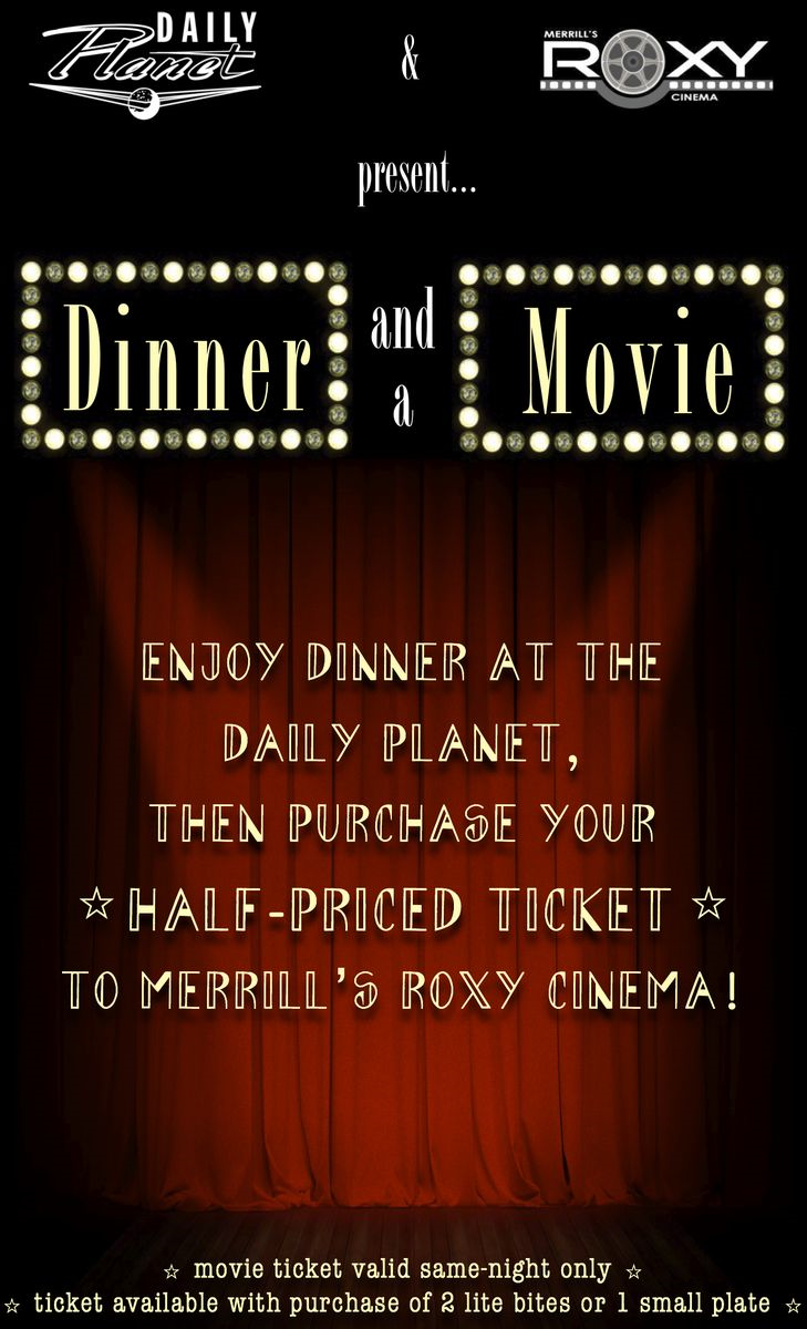 Dinner and movie poster 3