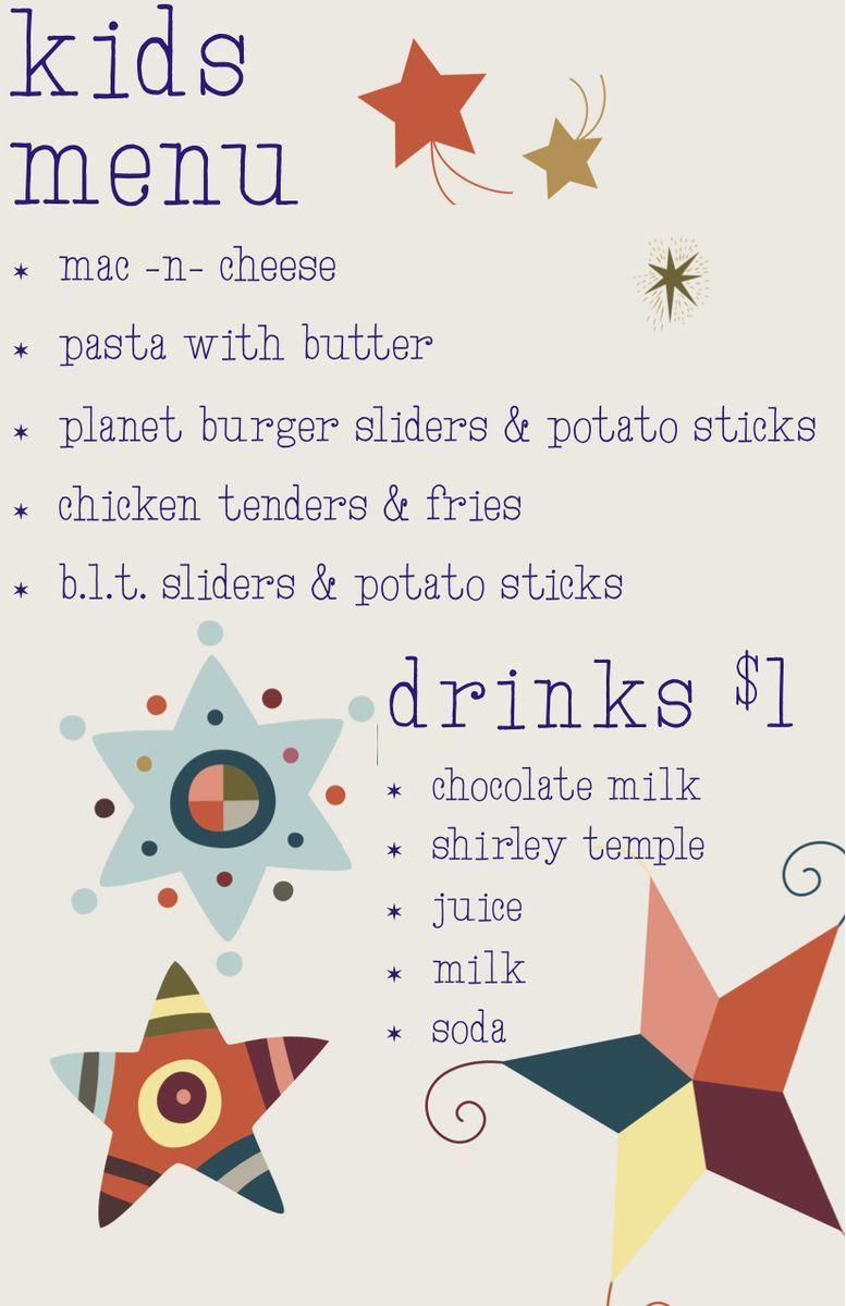 Kids menu fall 14