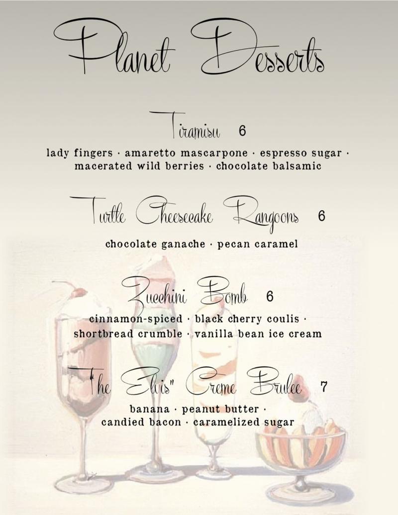 Dessert menu fall 14